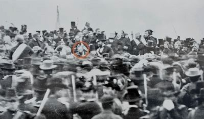Lincoln at the Dedication of the Cemetery image. Click for full size.