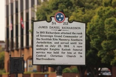 James Daniel Richardson Marker (side 2) image. Click for full size.