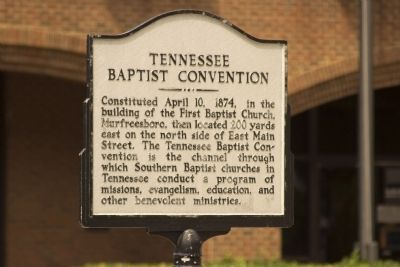 Tennessee Baptist Convention Marker image. Click for full size.