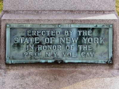 The 25th New York Cavalry Marker image. Click for full size.