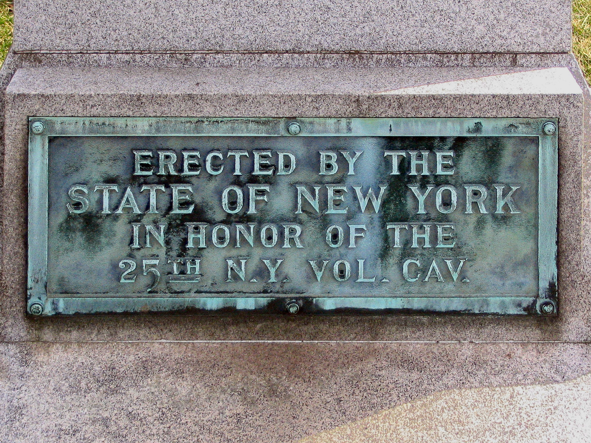 The 25th New York Cavalry Marker