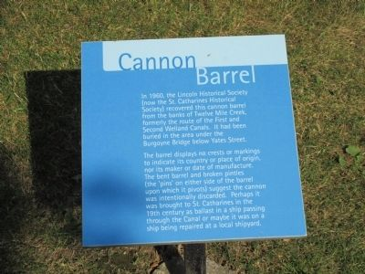 Cannon Barrel Marker image. Click for full size.