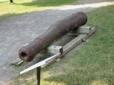 Cannon Barrel and Marker image. Click for full size.