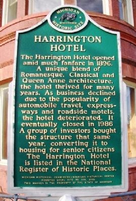 Harrington Hotel Marker image. Click for full size.