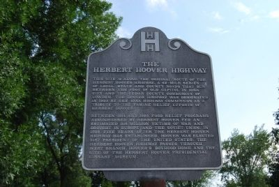 The Herbert Hoover Highway Marker image. Click for full size.