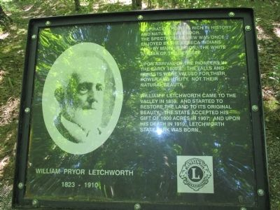 William Pryor Letchworth 1823 - 1910 Marker image. Click for full size.