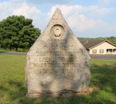 4th Georgia Cavalry Marker image. Click for full size.