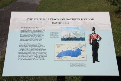 British Attack on Sackets Harbor Marker image. Click for full size.