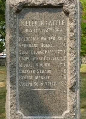 Killed in battle, July 11th and 12th, 1864 image. Click for full size.