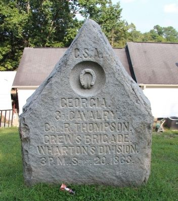 3rd Georgia Cavalry Marker image. Click for full size.