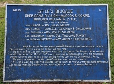 Lytle's Brigade Marker image. Click for full size.