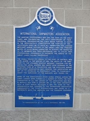 International Shipmasters' Association Marker image. Click for full size.