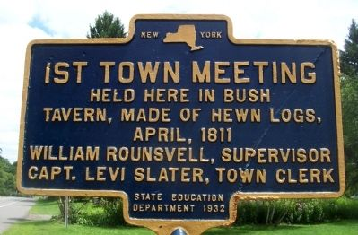 1st Town Meeting Marker image. Click for full size.