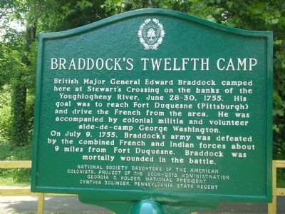 Braddock's Twelfth Camp Marker image. Click for full size.