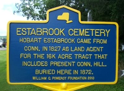 Estabrook Cemetery Marker image. Click for full size.