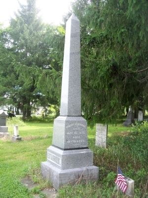 Hobart Estabrook Grave Marker in the Cemetery image. Click for full size.