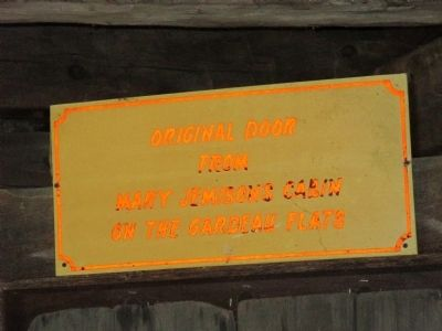 Mary Jemison Log Cabin Door Sign image. Click for full size.