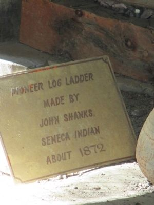 Pioneer Log Ladder Sign image. Click for full size.
