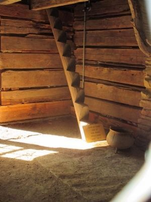 Pioneer Log Stairs image. Click for full size.