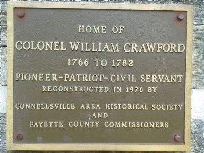 Home of Colonel William Crawford Marker image. Click for full size.