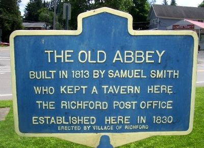 The Old Abbey Marker image. Click for full size.