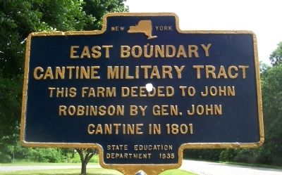 Eastern Boundary Cantine Military Tract Marker image. Click for full size.