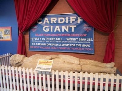 The Cardiff Giant on Display in Cooperstown image. Click for full size.