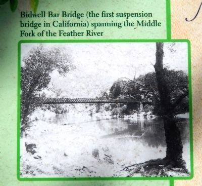 Bidwell Bar Bridge (<i>inset photo close-up</i>) image. Click for full size.