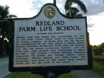 Redland Farm LIfe School Marker image. Click for full size.