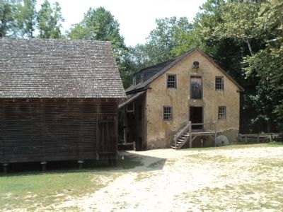 Corncrib and Gristmill at Batsto Village image. Click for full size.