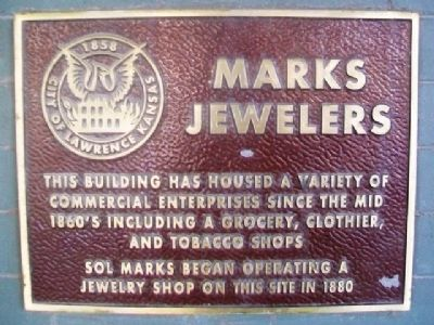 Marks Jewelers Marker image. Click for full size.