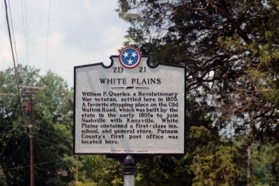 White Plains Marker image. Click for full size.