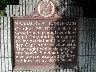 Massacre at Long Beach Marker image. Click for full size.