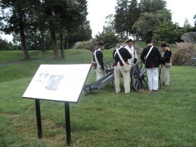 British Artillery Crew at the Marker image. Click for full size.