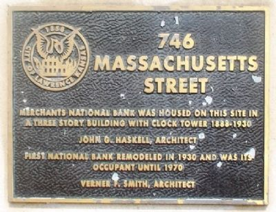 746 Massachusetts Street Marker image. Click for full size.