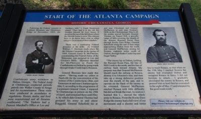 Start of the Atlanta Campaign Marker image. Click for full size.