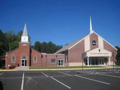 Old and new Mt. Olive Baptist Churches image. Click for full size.