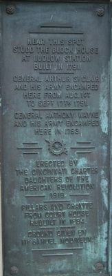 Ludlow's Station Marker text image. Click for full size.