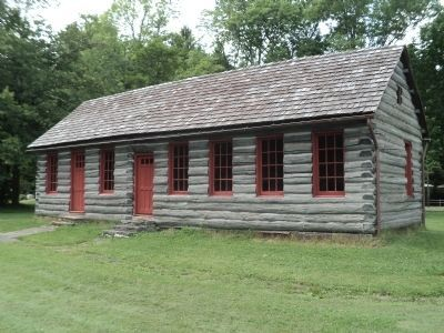 Steuben's Log Cabin image. Click for full size.