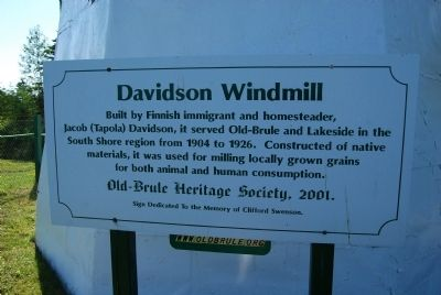 Davidson Windmill Marker image. Click for full size.