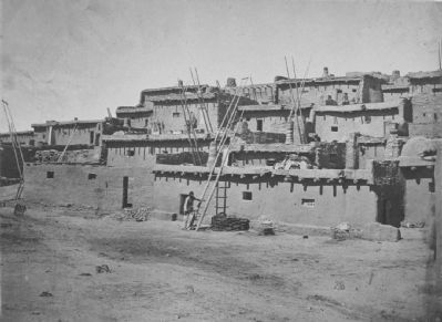 Section of the South Side of Zuni Pueblo, N.M., 1873 image. Click for full size.