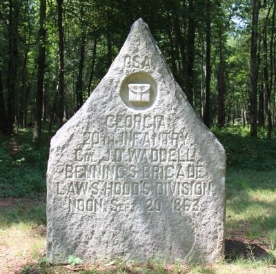 20th Georgia Infantry Marker image. Click for full size.