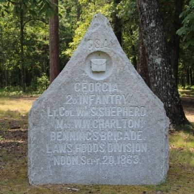 2nd Georgia Infantry Marker image. Click for full size.