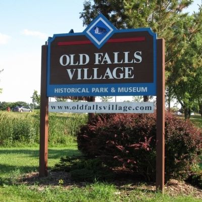 Old Falls Village Sign image. Click for full size.