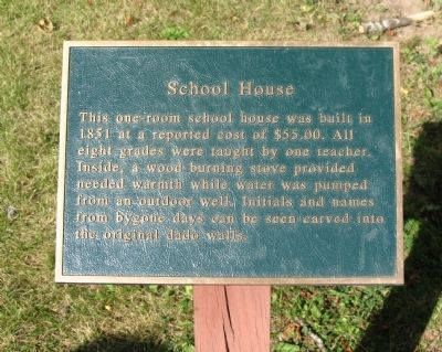 School House Marker image. Click for full size.