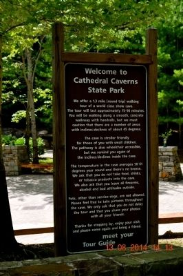 Cathedral Caverns Marker image. Click for full size.