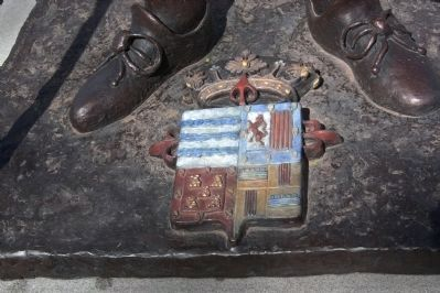 The de Vargas Coat of Arms, Detail of the Sculpture image. Click for full size.