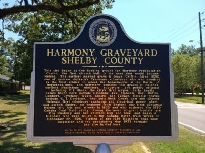 Harmony Graveyard Marker image. Click for full size.