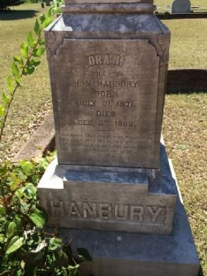 Grave of Ora Hanbury image. Click for full size.
