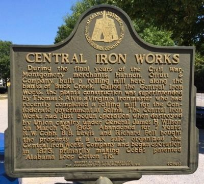 Central Iron Works Marker (Side 1) image. Click for full size.